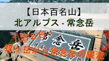 【絶景】蝶ヶ岳から常念岳までの夏山縦走編(1泊2日登山)